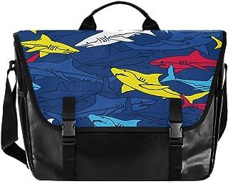 Bolso de lona para hombre y mujer, diseño de peces de dibujos animados