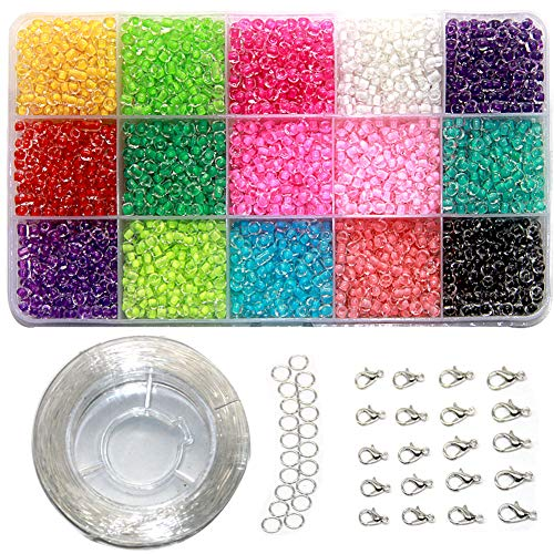 Ewparts 3mm Mini Glasperlen für DIY Armband Art & Jewellery-Making, Perlen Zum Auffädeln Perlenschnur Making Set, Fadeless Farbe (Color in Beads)