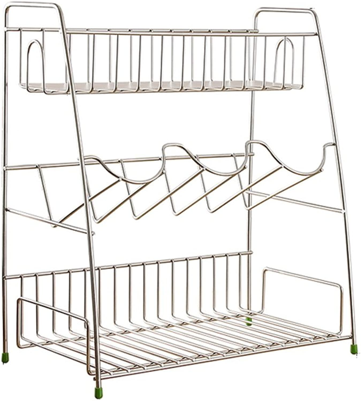 BJLWT Stainless Steel Kitchen Spice Rack Stand Counter Shelf Storage Bakers Rack Organizer Goods Racks