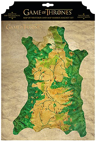 Game Of Thrones Westeros Map and Markers Magnet Set