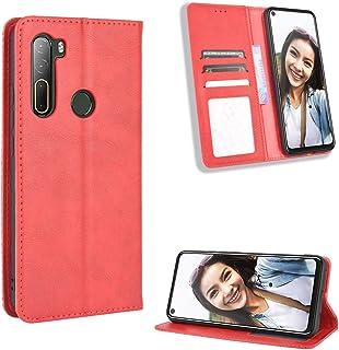 Case for HTC U20 5G Case Cover,Case for HTC U20 5G Case PU Leather flip Cover Red