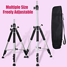 Leeven Adjustable Mannequin Head Tripod Stand for Hairdressing Heavy Duty Canvas Block Head Tripod Cosmetology Training Head Stand Wig Head Stand With Travel Bag