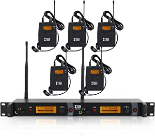 $329 » IEM1200 Wireless in Ear Monitor System 2 Channel 2/4/5 Bodypack Monitoring with in Earphone Wireless Type Used for Stage or Studio (5 Bodypacks)