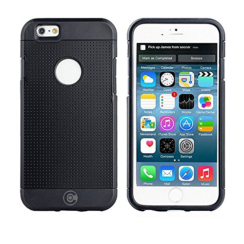 iPhone 6S Schutzhülle, iPhone 6Fällen von Kabel und Fall–Für die iPhone 6und iphone6s [rutschfest] [Heavy Duty] [die passgenauen] Sorgen iPhone 6(4,7) Armor Schutzhülle Slim, schwarz
