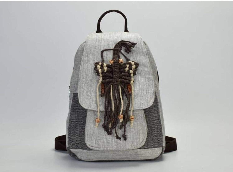 YTTY College-Tasche für Damen, handgewebt, Schmetterlings-Rucksack, Schmetterlings-Rucksack, Schmetterlings-Rucksack, Persönlichkeit, alle passende Campus-Studenten-Rucksack B07M5XFD1B  Markenschmaus 52e814