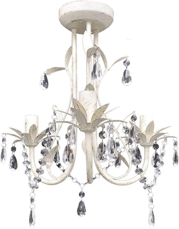 Xinglieu Deckenlampe Kristall Hngeleuchte Elegant wei Einzigartiges Design robust und widerstandsfhig moderne rustikale Kronleuchter