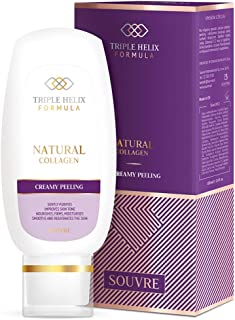 Souvre Collagen Creamy Peeling, 3.4 Fl oz - Natural Collagen Cleansing for Your Skin