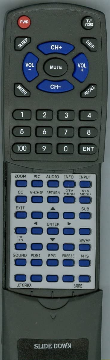 Replacement Remote Control Sabre half LCT47PBKA for online shop