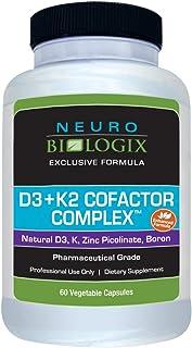 Vitamin D3 + K2 Cofactor Complex (10,000 IUs / 45 mcg) - 60 Capsules by Neurobiologix