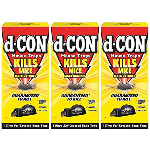 d-Con Ultra Set Covered Snap Trap 1 Ct. (Pack of 3)