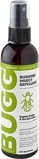 Buggins Natural Insect Repellent, DEET-Free, Repels Gnats & Flies, Plant Based, Vanilla Mint & Rose Scent, 4-oz
