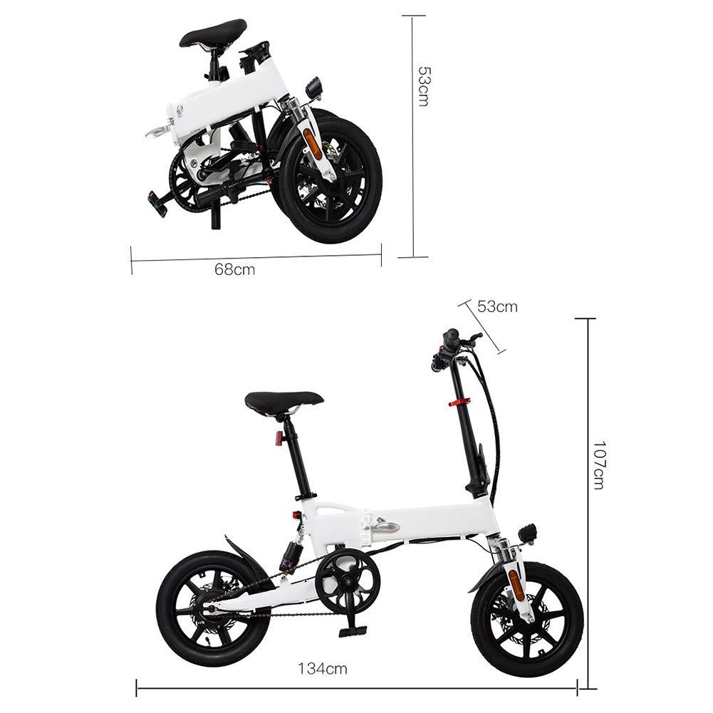 Fbewan hasta 25 km/H Bicicleta eléctrica Plegable para Adultos E ...