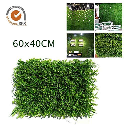 Paneles de Pantalla de setos Artificiales, 60X40 cm Hiedra Artificial Hedge Screen Hedge Screening Garden Fence Panel Roll, 1 Paquete