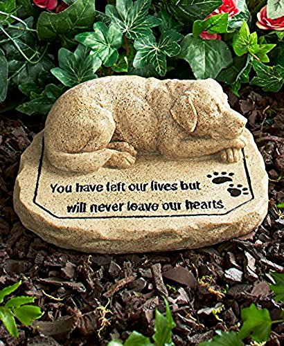 CT DISCOUNT STORE Pet Memorial Stone (Adorable Dog Memorial Stone)