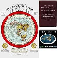 """フラット地球マップ–Gleasonの新しい標準Map of the World–Large 24"""" x 36"""" 1892Includes Free eBook–Zetetic Earth Not a Globe by Samuel Rowbotham 24W x 36H"""