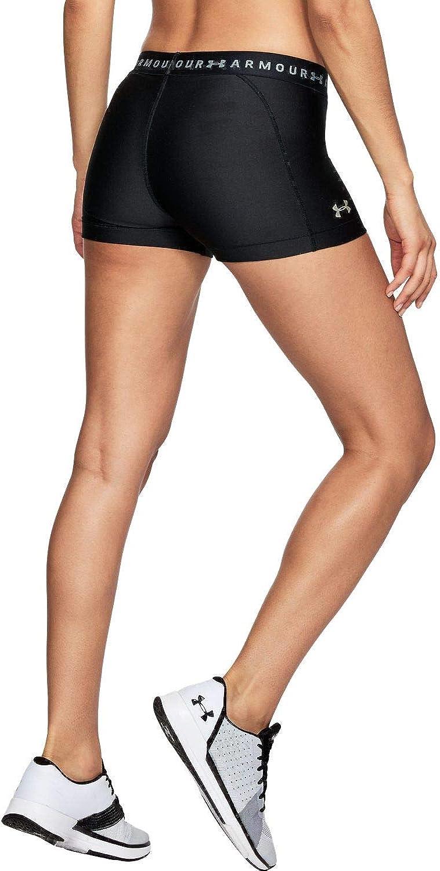 schnelltrocknende Kurze Hose mit Kompression und 4-Way-Stretchstoff Hg Armour Shorty Under Armour Damen komfortable Sport Shorts mit Anti-Odor Technologie