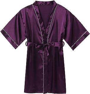 Freebily Bata para Niños Albornoces para Niño Ducha Bata de Baño Infantil Niñas Ropa de Dormir Pijamas para 5-12 años