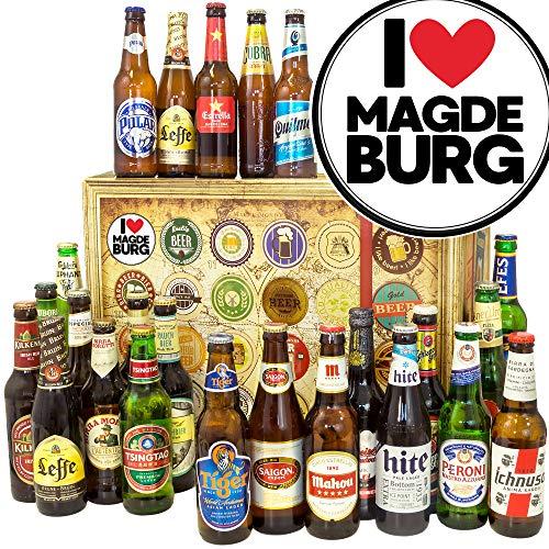 I love Magdeburg/Biere aus aller Welt/Magdeburg Geschenk Paar/Adventskalender Bier Männer