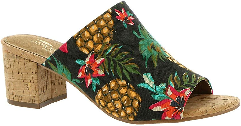 Aerosoles Women's Mid Level Heeled Sandal, Black Multi, Size 12.0