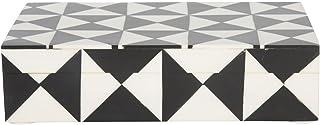 مثلث سیاه و سفید خانه صنایع دستی 8x5 مثلث نگهدارنده جواهرات تزئینی جعبه سازمان دهنده جعبه دست ساز از