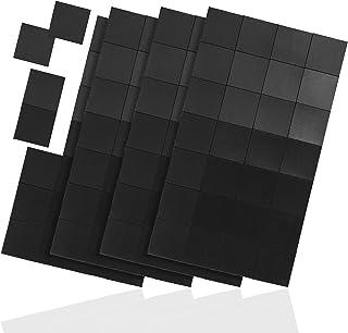 WINTEX 112 láminas magnéticas 20 mm x 20 mm x 1,2 mm, autoadhesivas, extrema adherencia, en negro