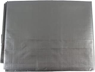 SGT KNOTS Waterproof Tarp 12 x 25 feet 10 mil Thickness - All Weather/Purpose Heavy Duty Silver Poly Tarp - Rust-Proof Grommets - for Camping,  Hunting,  Tent Fly,  Painting,  Canopy,  Cover
