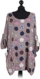 Zantt Womens Fashion Top Long Sleeve Loose Round Neck Floral Print T-Shirts Blouse