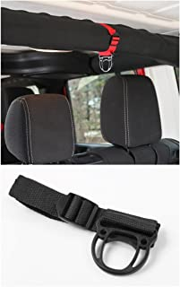FMtoppeak 2Colors Roll Bar Coat Hook For Jeep Wrangler YJ TJ JK JKU Sports Sahara Freedom Rubicon X & Unlimited X 2/4 door (Black)
