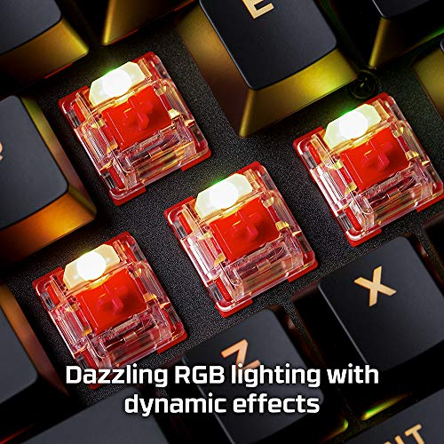 HyperX Alloy Origins - Mechanical Gaming Keyboard - Software-Controlled Light & Macro Customization - Compact Form Factor - Linear Switch - HyperX Red - RGB LED Backlit