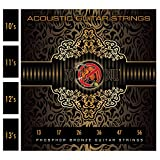 13's Acoustic Guitar Strings for Warmer Tone, Balanced Sound and Great Sustain