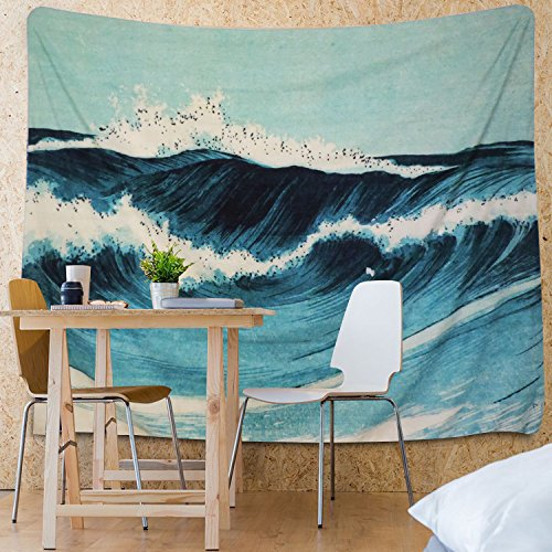Martine Mall Tapestry Wall Tapestry Wall Hanging Tapestries Ocean Tapestry Wall Art Ocean Wave Decor Blue Indian Tapestry Wall Blanket Wall Decor Wall Art Home Decor Wall Hanging Art 82 X 59 Inches