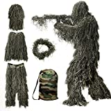 Best Ghillie Suits - MOPHOTO 5 in 1 Ghillie Suit, 3D Camouflage Review