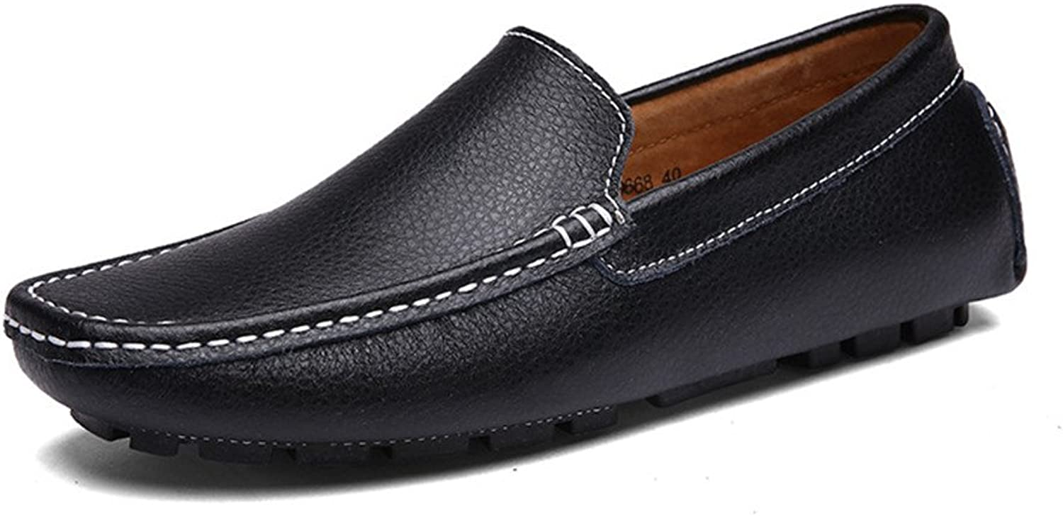 XHD- Classic shoes Men's Classic Driving Penny Loafers Bare Vamp Leisure Boat Moccasins Soft Rubber Sole