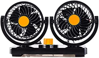 12V Car Electric Fan Low Noise Summer Air Conditioner 360 Degree Rotating Fan Air Cooling Fan Mini Automobile Parts