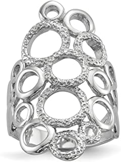 ICE CARATS 925 Sterling Silver Textured Circles Band Ring Size 6.00 Fine Jewelry Ideal Gifts For Women Gift Set From Heart