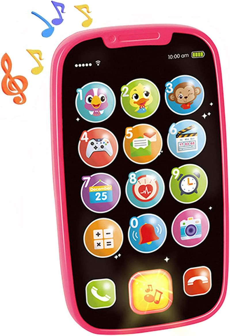 HOLA Baby Cell Phone Toys for 1 Girl Old Year Popular My Learning Year-end gift First