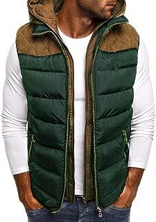 Men Padded Cotton Blend Autumn Winter Warm Vest Coat Tops Jacket Casual Loose Sleeveless Solid Slim Warm Outwear