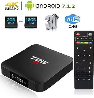 Linkplus T95 S1 Android 7.1 TV Box, Amlogic S905W Quad Core 2GB RAM/16GB ROM WiFi 2.4GHz Ethernet HDMI 4K Full HD Media Player with USB