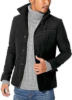 ラグスタイル イタリアンカラー ジャケット メルトンコート アウター 無地 pm-5409