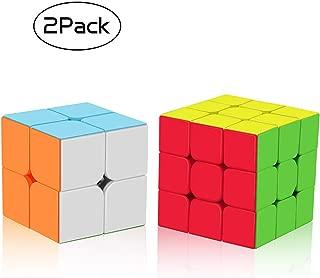 Juego de Cubos de Velocidad Roxenda, Cubo mágico Esmerilado, 2 x 2 x 3 x 3, Cubo sin Adhesivo