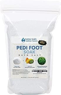 Pedi Foot Soak 32 Ounces Epsom Salt with Lavender, Tea Tree, Eucalyptus and Chamomile Essential Oils Plus Vitamin C and All Natural Ingredients