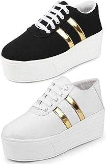 TYING Women's Sneaker (Set of 2 Pairs)