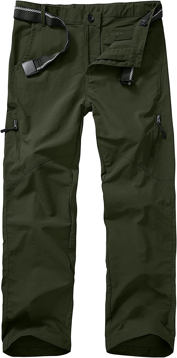Kids' Cargo Hiking Shorts Boys' Youth Casual Elastic Waist Outdoor Quick Dry Scout Uniform Shorts