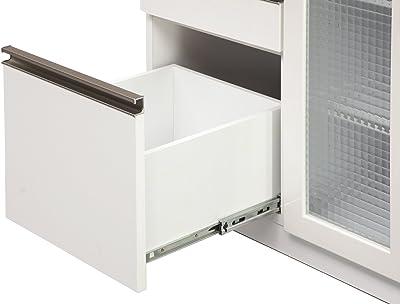 大川家具 関家具 オープンカウンター 幅70cm Aタイプ ホワイト CK-234348