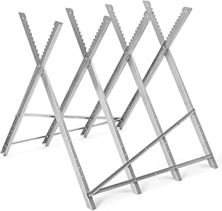 EnjoyShop220 lbs Heavy Duty Portable Folding Steel Sawhorse New Iron Lightweight