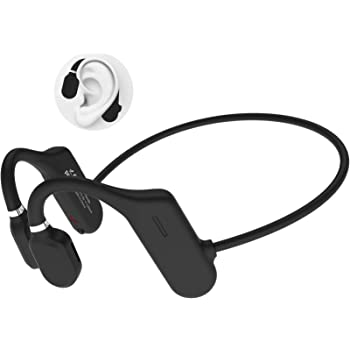 ALOVA Bluetooth Headphones with Mic, Open Ear Headphones Bluetooth 5.0 Sport Headset Waterproof IPX5 Ultra-Lightweight 18 Grams 6D Sound HD Phone Call