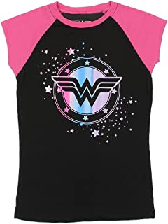 Wonder Woman DC Comics Big Girls Raglan Tee