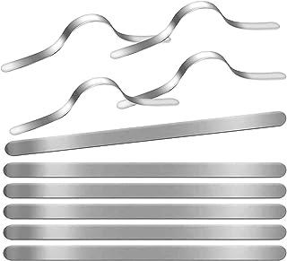 comprar comparacion 100 tiras de aluminio para la nariz, puente para mascarillas, 90 mm, adhesivas, metálicas y planas, para costura