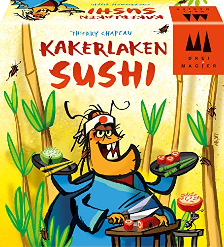 Schmidt Spiele 40885 Kakerlaken Sushi, DREI Magier Spiele, Reaktionsspiel, bunt