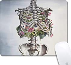 Computer Rib Cage Art Rectangle Mouse Pad (9.4x7.8 Inch), Printed Rubber Desk Accessories Mouse Mat